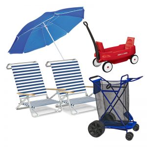 Deluxe Beach Package with Cart and Wagon